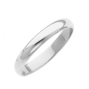 NWT 10K White Yellow Gold Classic 2MM Wedding Band